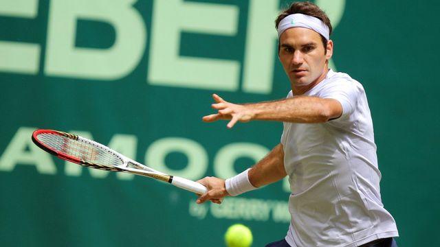 Federer a remporté son 77e titre sur le front de l'ATP. [OLIVER KRATO - Keystone]