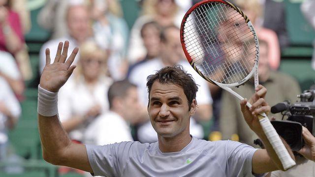 Roger Federer devait se rassurer une semaine avant Wimbledon. [Martin Meissner - Keystone]