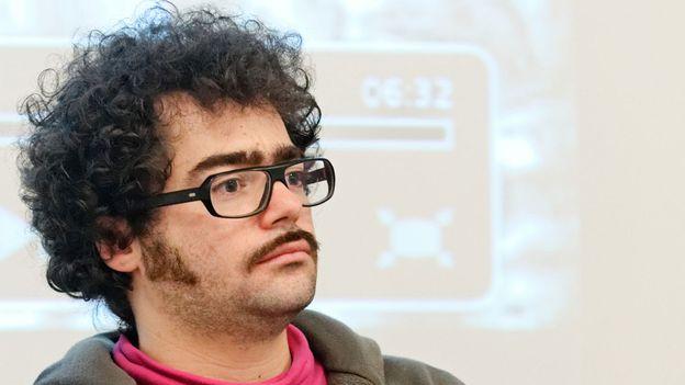 """Jérémie Zimmermann, fondateur de la """"Quadrature du Net"""""""