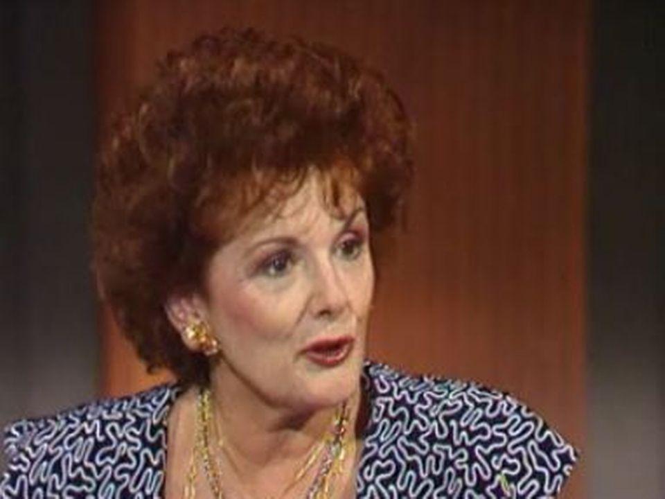Frédérique Hébrard en 1990. [RTS]