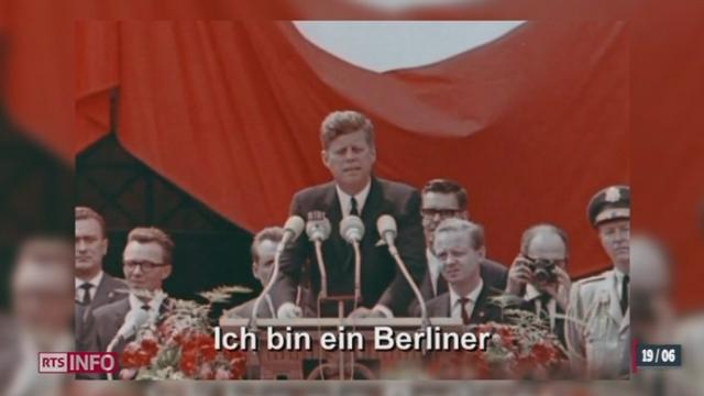 Il y a 50 ans, John Kennedy prononçait son célèbre discours à Berlin [RTS]