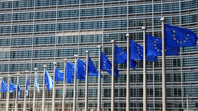 Drapeau europe brux [EPA/Olivier Hoslet - Keystone]