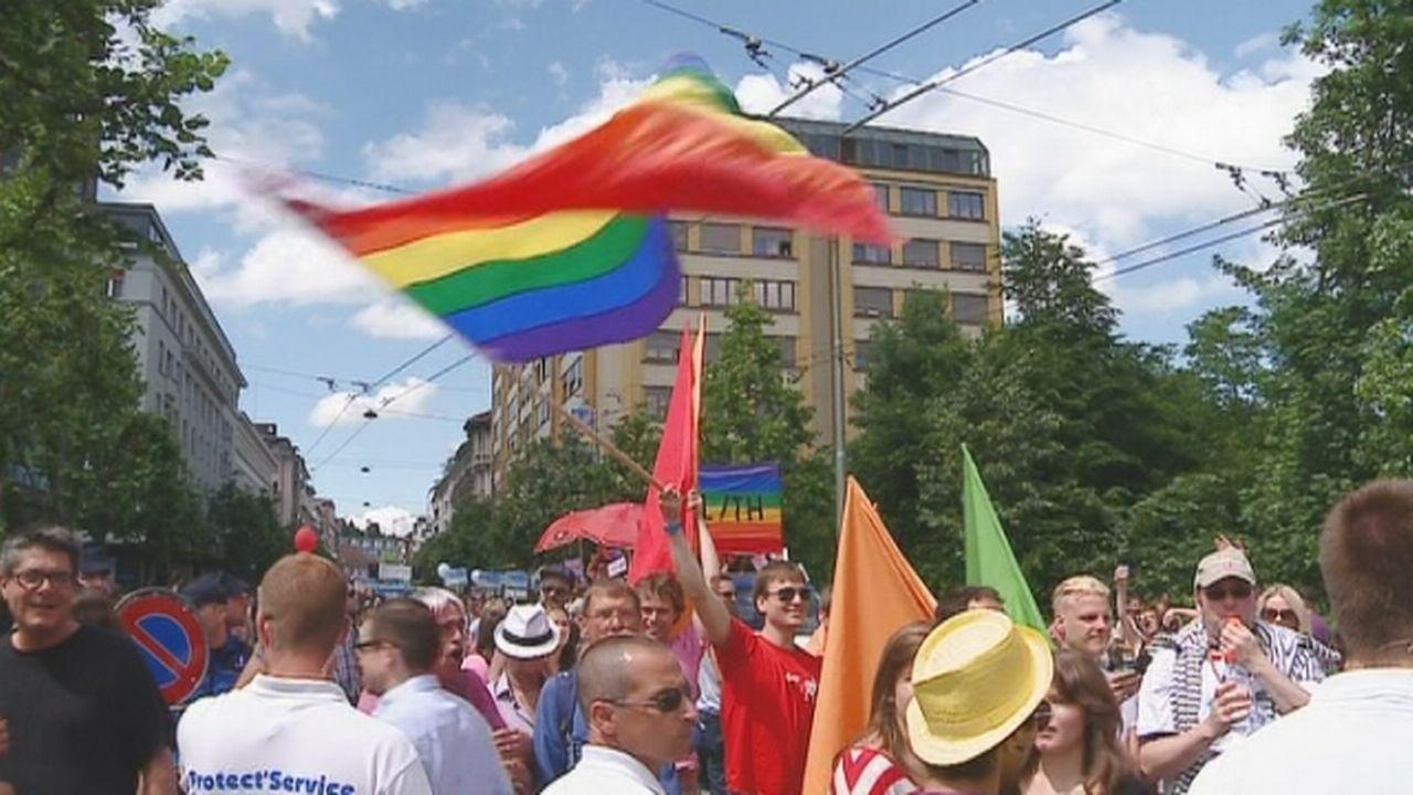 Heurts lors de la Pride 2013 à Fribourg [RTS]