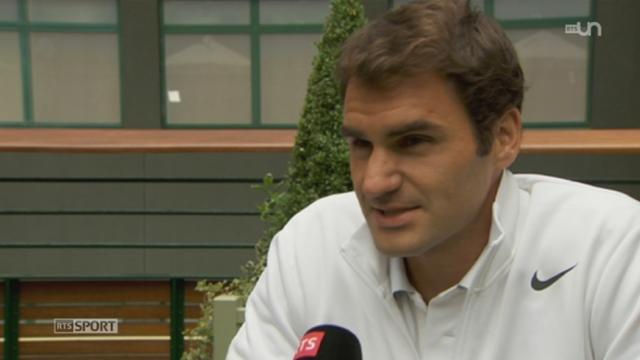 Tennis: interview de Roger Federer avant le début de Wimbledon [RTS]