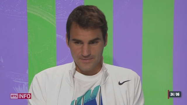 Wimbledon: Roger Federer n'a laissé aucune chance à son adversaire [RTS]