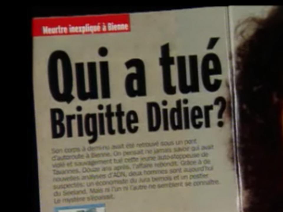 Le meurtre de Brigitte Didier resté impuni durant 15 ans. [RTS]