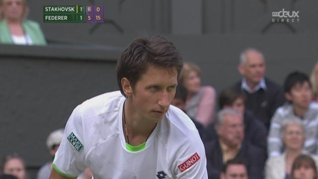 (2e tour) Sergiy Stakhovsky (UKR) - Roger Federer (SUI). L'Ukrainien sert pour mener 2 manches à 1! [RTS]