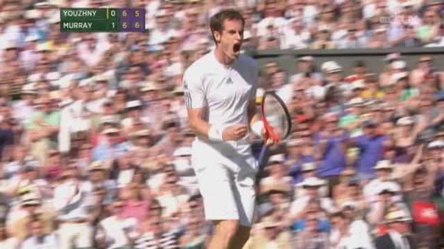 Youzhny – Murray (4-6, 6-7): deuxième set disputé remporté par Murray [RTS]
