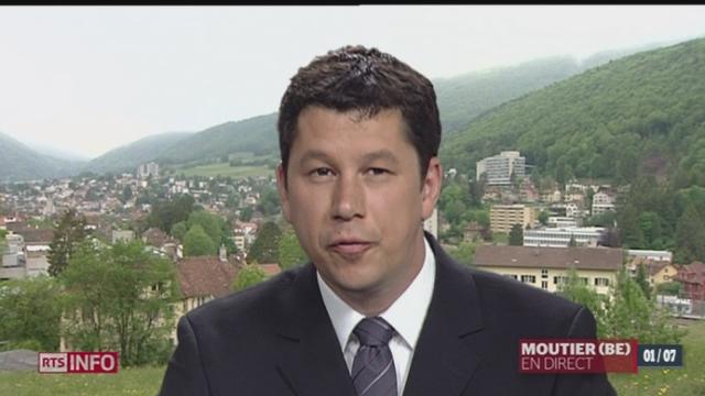 JU - Election contestée de Porrentruy: le compte-rendu d'Olivier Guerdat à Moutier (BE) [RTS]