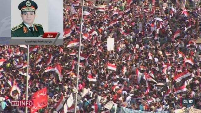Egypte: le commandement militaire a adressé un ultimatum aux politiques [RTS]