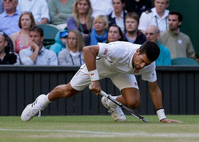 Malgré les apparences, Novak Djokovic s'est qualifié assez facilement. [Alastair Grant - Keystone]