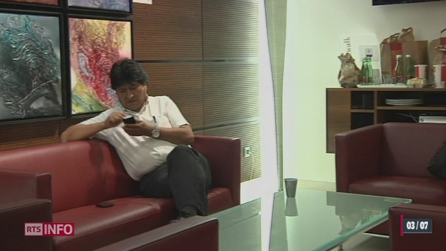 Le déroutement de l'avion du président bolivien Evo Morales provoque un incident diplomatique [RTS]