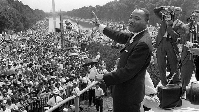 Martin Luther King durant la marche sur Washington, le 28 août 1963. [AFP]
