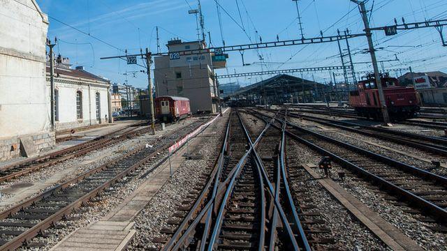 Entrée en gare de Lausanne. [Yannick Bailly - Keystone]