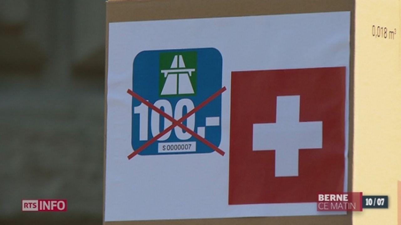 Les Suisses voteront pour l'approbation ou non de l'augmentation du prix de la vignette autoroutière [RTS]