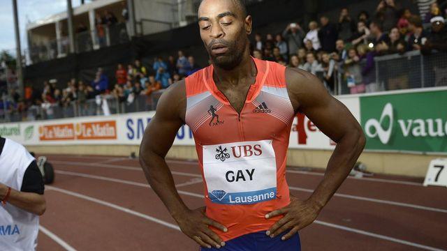 Tyson Gay avait remporté le 100m du meeting d'Athletissima il y a quelques jours. [Jean-Christophe Bott - Keystone]