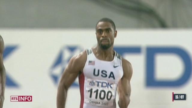 Dopage: Adidas a annoncé qu'il suspendait son contrat avec l'Américain Tyson Gay [RTS]