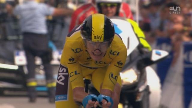 17e étape (contre-la-montre): Froome remporte aussi ce contre-la-montre devant Contador! [RTS]