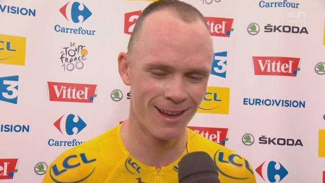 17e étape (contre-la-montre): Interview de Chris Froome après sa victoire du jour dans ce contre-la-montre [RTS]