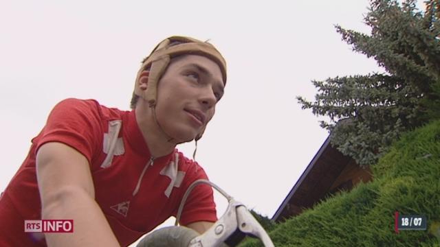 Cyclisme: un champion en herbe compare les vélos de différentes époques [RTS]