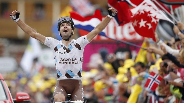 Christophe Riblon avait remporté une étape du Tour de France en 2010 à Ax-3 Domaines. - Au programme ce vendredi: Glandon, Madeleine, Croix Fry! [Guillaume Horcajuelo - Keystone]