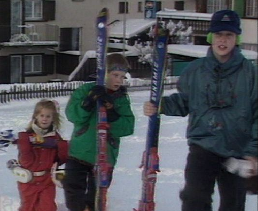 Le prince William et Harry à Klosters en 1995