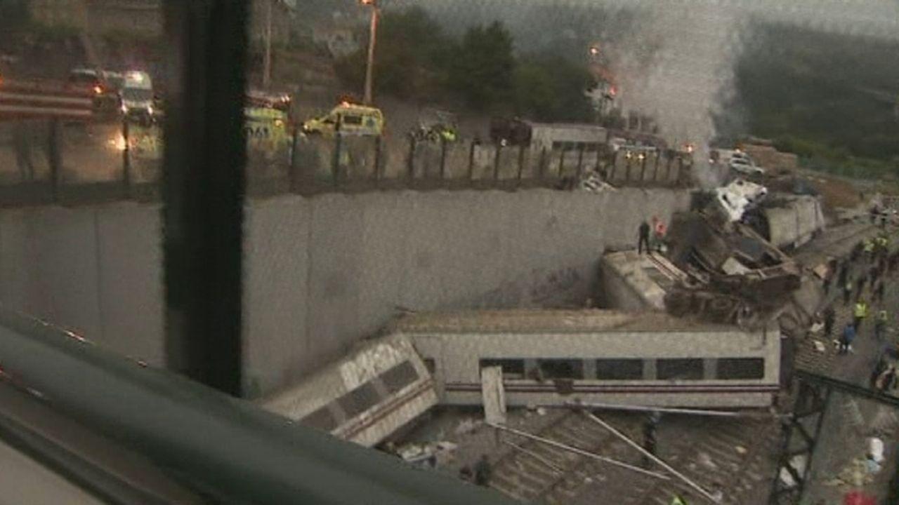 Accident de train en Espagne [RTS]
