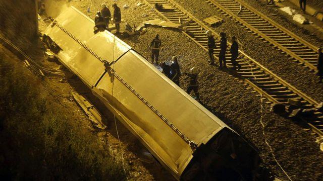 Le train est sorti des rails dans un virage. [EPA/LAVANDEIRA JR]