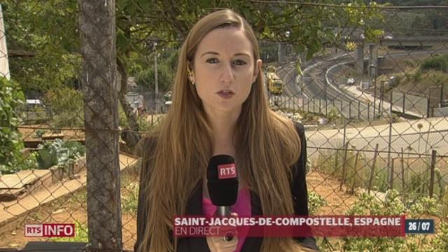Accident de train à St-Jacques de Compostelle: le point avec Aude Soufi [RTS]