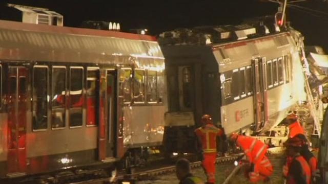 Les secours s'activent après la collision de trains (VD) [RTS]