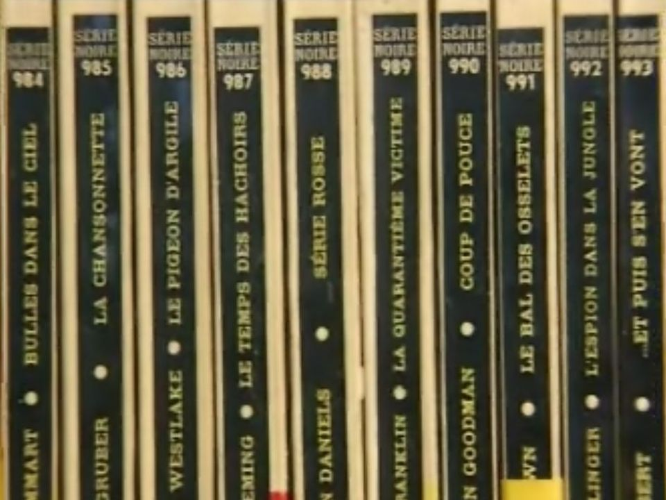 La collection Série Noire, les polars de Gallimard. [RTS]