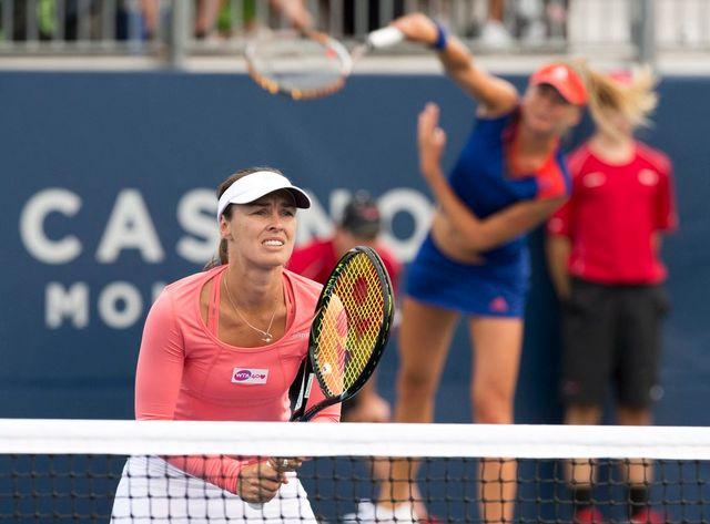 Hingis et Hantuchova avaient également remporté leur 1er match à Carlsbad la semaine dernière. [Frank Gunn - Keystone]