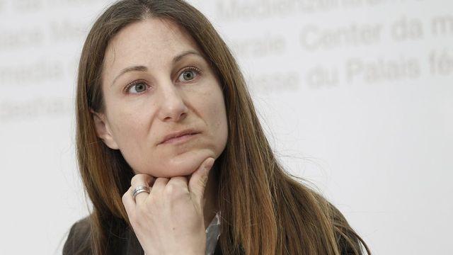 Adèle Thorens, co-présidente des Verts suisses. [Peter Klaunzer - Keystone]