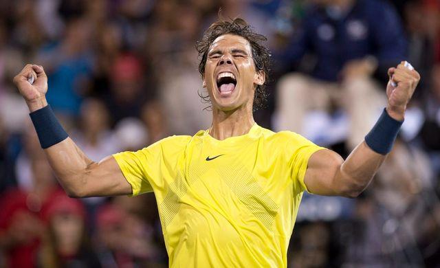 Nadal laisse exploser sa joie après la balle de match. [Paul Chiasson - Keystone]