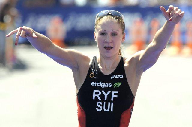 Daniela Ryf a fait la différence dans les derniers instants de l'épreuve. [LAURENT GILLIERON - Keystone]