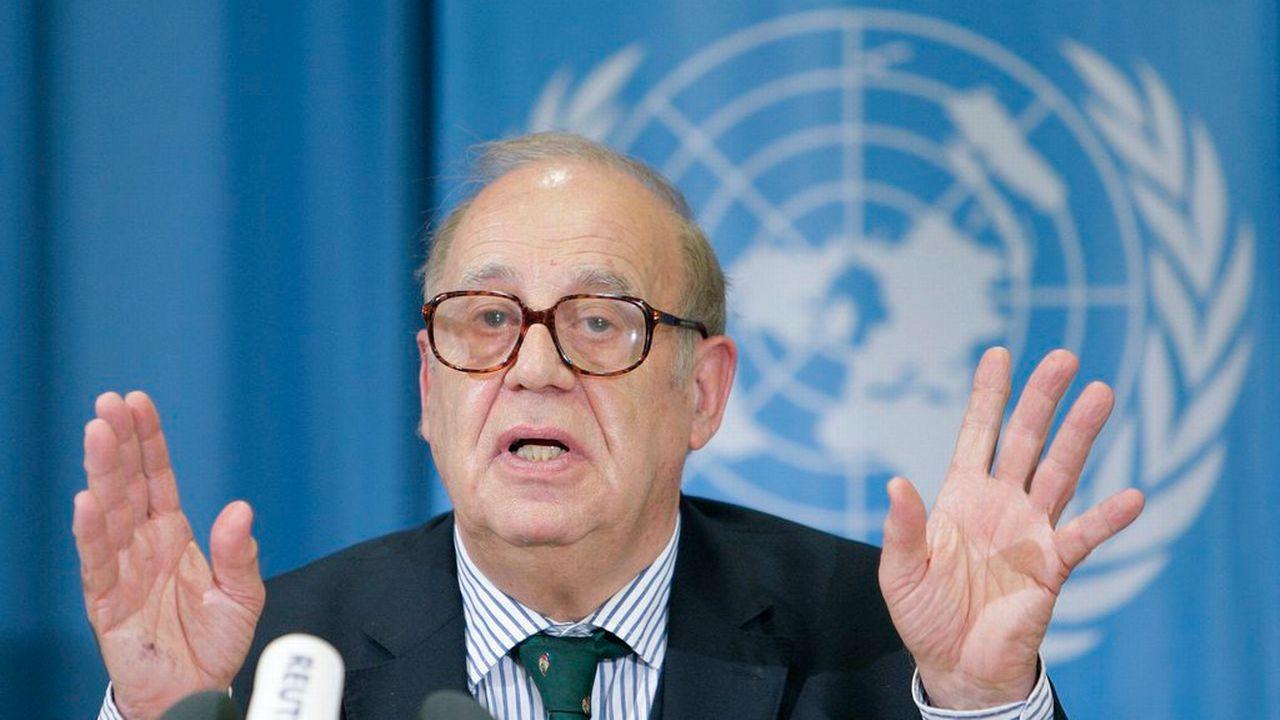En 2008, Jean Ziegler était encore rapporteur de l'ONU sur le droit à l'alimentation. [Salvatore Di Nolfi - Keystone]