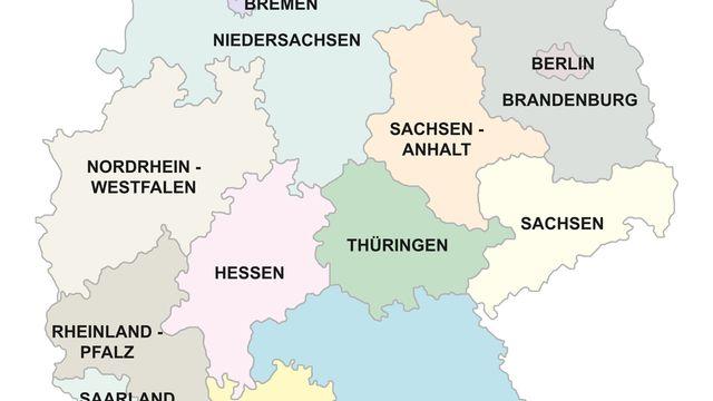 Carte de l'Allemagne [© marog pixcells  - Fotolia]