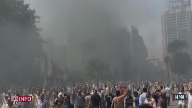 Egypte: l'intervention de la police pour disperser les manifestants pro-Morsi se solde par un bain de sang [RTS]