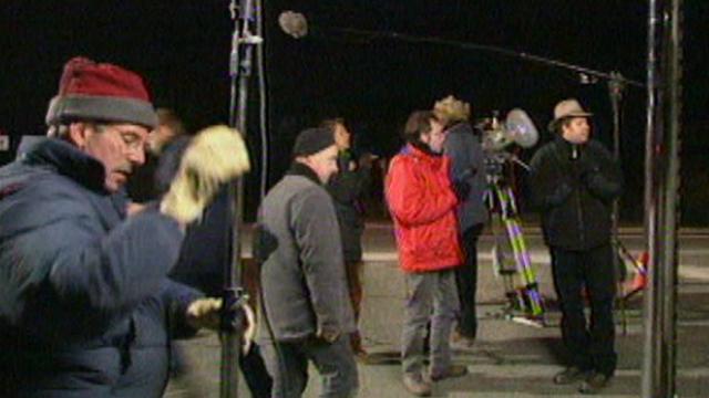 Tournage d'un film dans la région Rhône-Alpes en France. [RTS]
