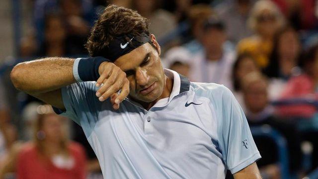 Federer n'est pas passé si loin de la victoire face à Nadal. [Al Behrman - Keystone]