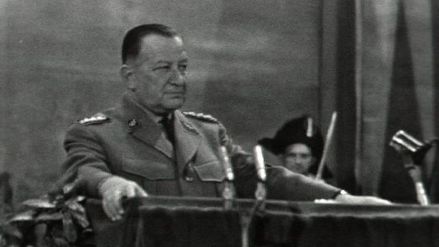 Le commandant de corps Robert Frick en 1961 [RTS]