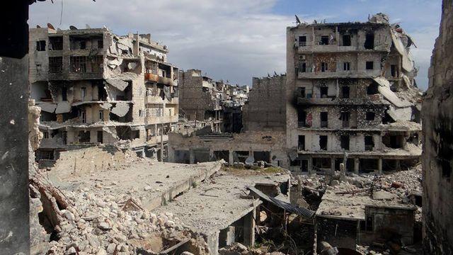 Les autorités syriennes démentent avoir eu recours à des armes chimiques. [AP/Aleppo Media Center, AMC/Keystone]