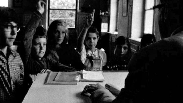 Une classe en 1967. [RTS]