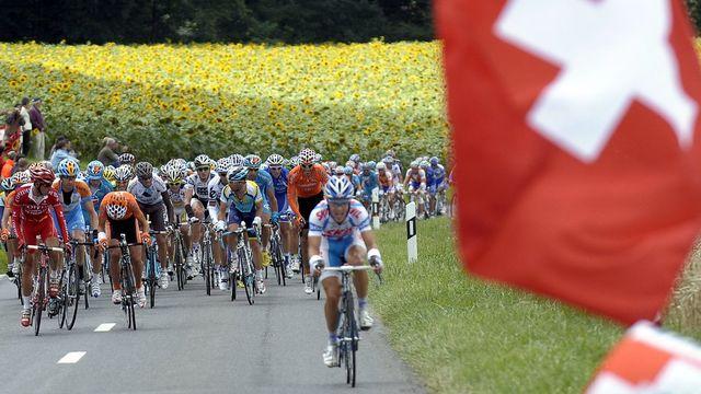 La 15e étape du Tour de France en Suisse, entre Pontarlier et Verbier le 19 juillet 2009. [Nicolas Bouvy  - Keystone]