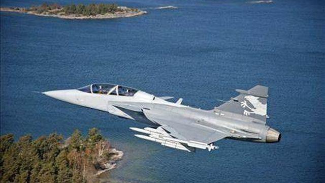 L'avion de combat Gripen.
