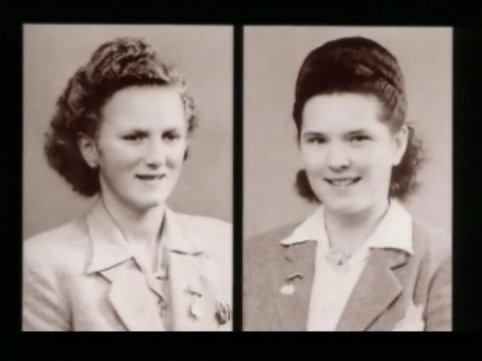 Les 2 victimes du crime de Maracon, perpétré en 1949. [RTS]