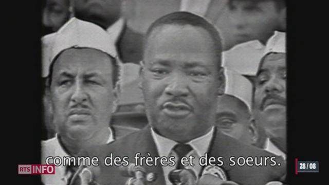 Il y a 50 ans, Martin Luther King prononçait son célèbre «I have a dream» [RTS]