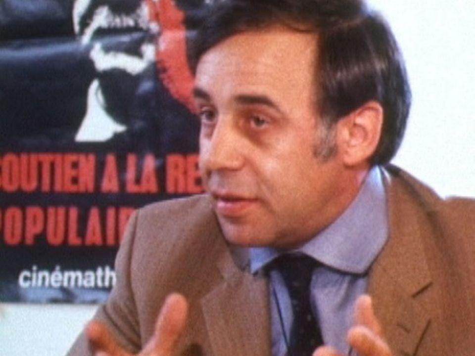 Le sociologue Jean Ziegler en 1974. [RTS]