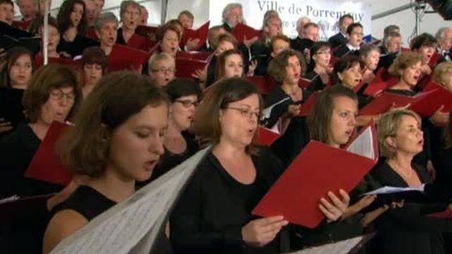 La messe allemande lors de la Schubertiade de Porrentruy en 2011. [RTS]