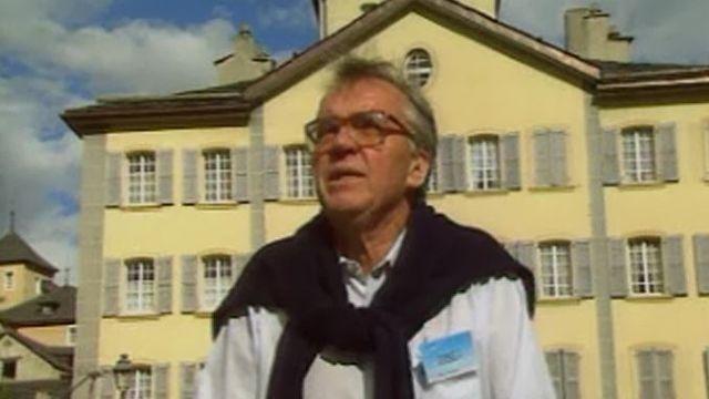 André Charlet lors de la Schubertiade de Sion, 1990 [TSR]